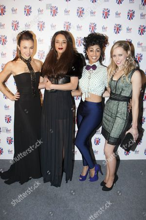 Dominique Provost-Chalkley (Holly), Hannah John-Kamen (Viva), Siobhan Athwal (Luce) and Lucy Phelps (Diamond)