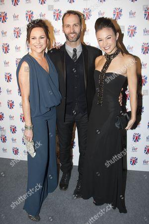 Sally Ann Triplett (Lauren), Gary Milner and Dominique Provost-Chalkley (Holly)
