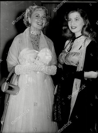 Christine Norden Actress With Connie Leviss (no Detail) 1949.