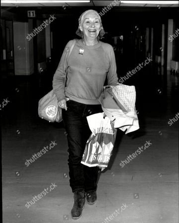 Stock Photo of Christine Norden Actress At Heathrow Airport 1981.