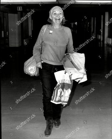 Christine Norden Actress At Heathrow Airport 1981.