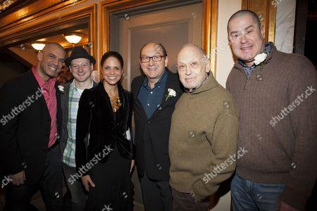 Stock Picture of Dennis Stowe, Jeremy Davis, Soledad O'Brien, Joel Hatch, Charles Strauss and Merwin Foard