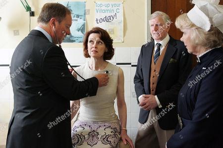 Stock Image of Robert Daws as Dr Gordon Ormerod, Gabrielle Drake as Margo Price, Stephen Moore as Howard Price and Wendy Craig as Matron