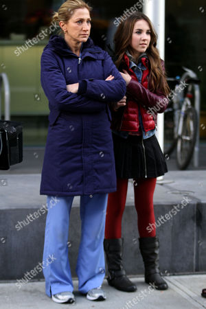 Editorial picture of 'Nurse Jackie' on set filming, New York, America - 11 Dec 2012