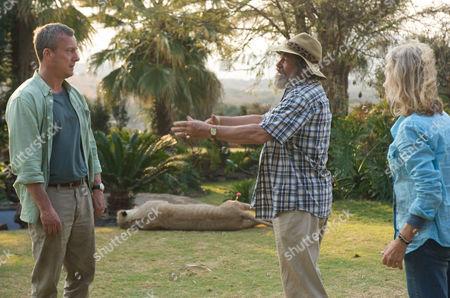 Danny (Stephen Tompkinson), Du Plessis (Deon Stewardson) and Caroline (Hayley Mills)