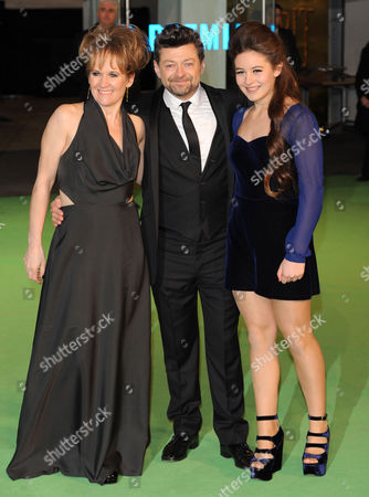 Lorraine Ashbourne and Andy Serkis and daughter Ruby