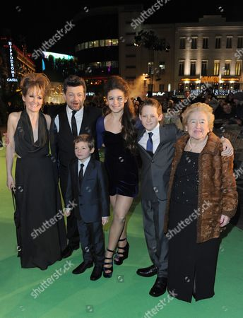 Andy Serkis, Lorraine Ashbourne and children Ruby, Sonny and Louis