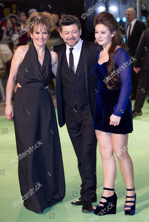 Andy Serkis, Lorraine Ashbourne and daughter Ruby