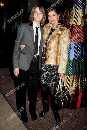 Paulina Porizkova and son Oliver Orion Ocasek