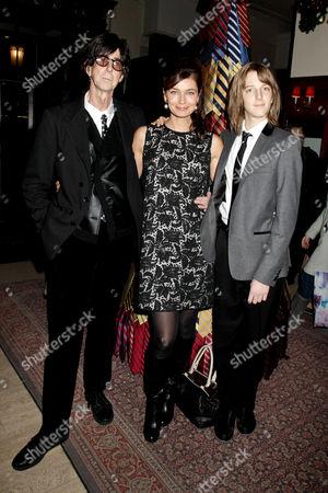 Ric Ocasek, Paulina Porizkova and son Oliver Orion Ocasek