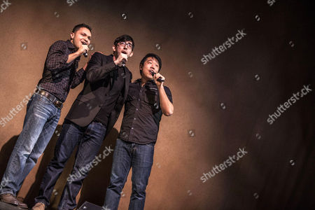 Stock Image of Steve Chazaro, Max Crumm and Raymond J Lee