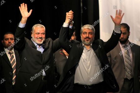 Hamas chief Khaled Meshaal and Palestinian Prime Minister Ismail Haniyeh