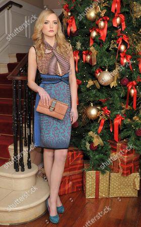 Stock Photo of Model Danielle Winkworth wears Missoni space dye dress E700