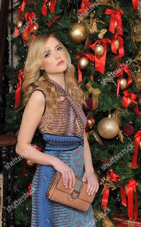 Stock Image of Model Danielle Winkworth wears Missoni space dye dress E700