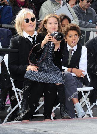 Stock Picture of Deborra-Lee Furness, Ava Eliot Jackman and Oscar Maximillian Jackman
