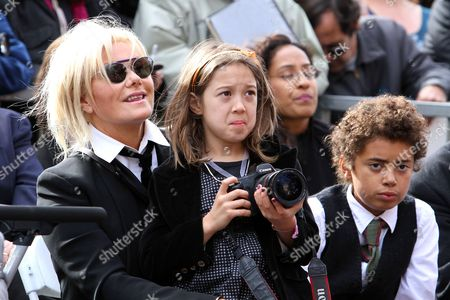 Deborra-Lee Furness, Ava Eliot Jackman and Oscar Maximillian Jackman