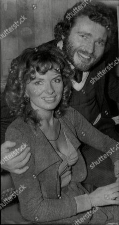 Derren Nesbitt With Fellow Actor Julie Ege 1975.