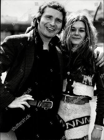 Derren Nesbitt With Fellow Actor Barbara Flynn 1973.