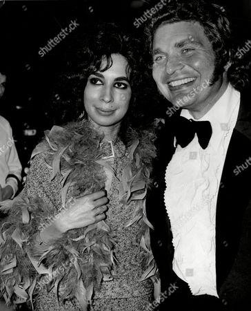 Derren Nesbitt Actor With Girlfriend Hazel Tyler 1973.