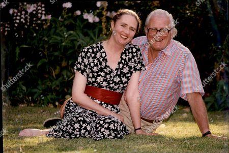 Artemis Cooper With Her Father John Julius Norwich (viscount Norwich).