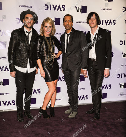 Stock Picture of Metric, Joules Scott-Key, Josh Winstead, Emily Haines, James Shaw