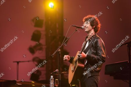U.S. singer songwriter Jack Dishel playing live in the concert hall of the KKL at the Blue Balls Festival, Lucerne, Switzerland