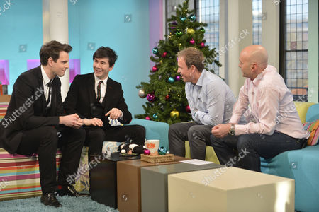 Magicians Barry and Stuart with Tim Lovejoy and Simon Rimmer