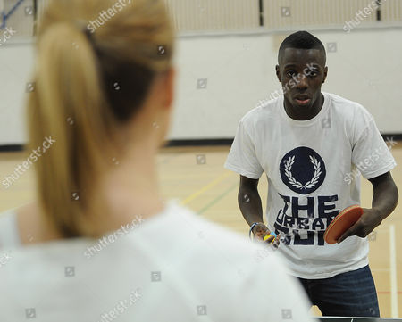 Editorial photo of Darius Knight Table Tennis Master Class With Laura Williamson Picture; Kevin Quigley.