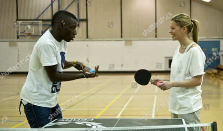 Editorial image of Darius Knight Table Tennis Master Class With Laura Williamson Picture; Kevin Quigley.
