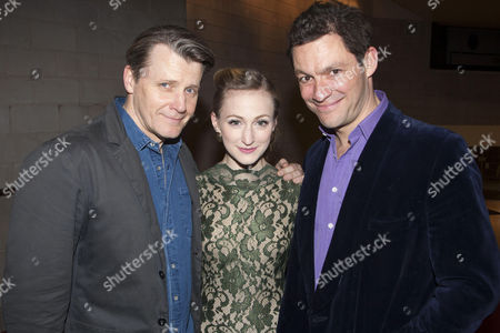 Anthony Calf (Colonel Pickering), Carly Bawden (Eliza Doolittle), Dominic West (Professor Henry Higgins) and Martyn Ellis (Alfred P Doolittle)