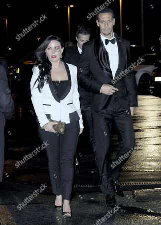 Stock Image of Rio Ferdinand and Wife Rebecca Ellison