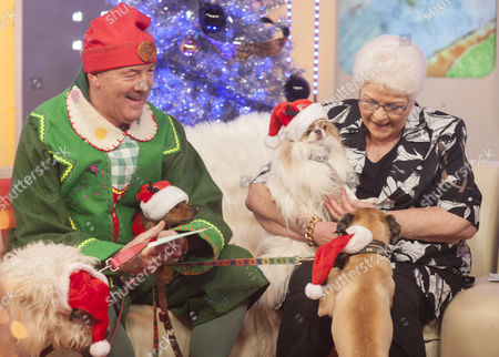 Dean Sullivan, Pam St Clement and Text Santa Dogs