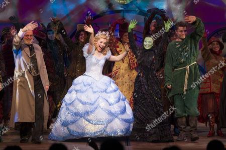 Keith Bartlett (The Wonderful Wizard of Oz), Gina Beck (Glinda), Louise Dearman (Elphaba) and Ben Freeman (Fiyero)
