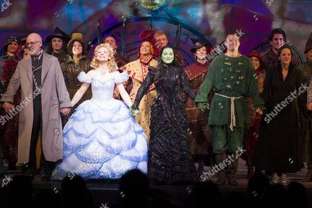 Keith Bartlett (The Wonderful Wizard of Oz), Gina Beck (Glinda), Louise Dearman (Elphaba), Ben Freeman (Fiyero) and Katie Rowley Jones (Nessarose)