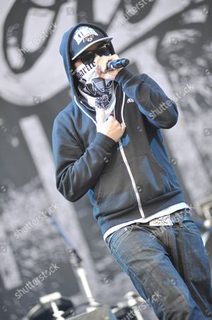 Leicester United Kingdom - June 11: Charlie Scene From Hollywood Undead Live Onstage At Download Festival 2011 Donington Park Leicester June 11