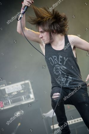 Leicester United Kingdom - June 11: Austin Dickinson From Rise To Remain Live Onstage At Download Festival 2011 Donington Park Leicester June 11