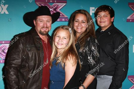 Stock Picture of Tate Stevens and Family