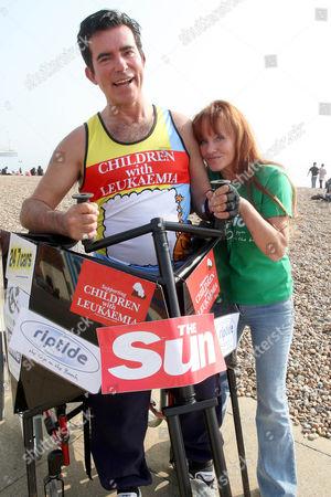 Editorial picture of Eddie in training for the London Marathon, Brighton, Britain - 25 Mar 2011