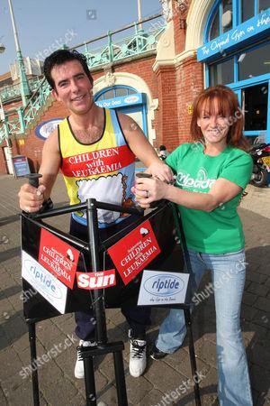 Editorial image of Eddie in training for the London Marathon, Brighton, Britain - 25 Mar 2011