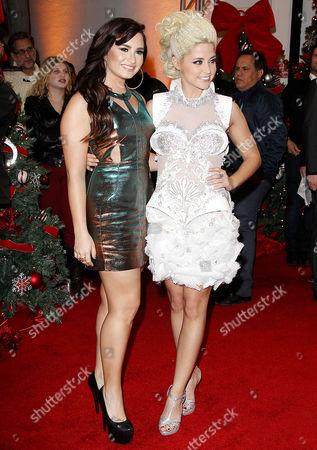 Stock Image of Demi Lovato and Cece Frey