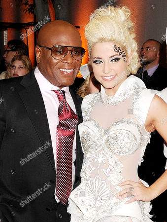 Stock Picture of L.A. Reid and Cece Frey