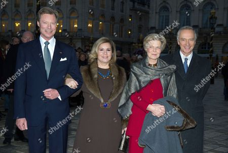 Grand Duke Henri of Luxembourg, Grand Duchess Maria Teresa of Luxembourg, Archduchess Marie-Astrid of Austria and Archduke Christian of Austria