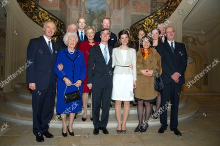 Grand Duke Henri of Luxembourg, Grand Duchess Maria Teresa of Luxembourg, Archduke Christian of Austria, Archduchess Marie-Astrid of Austria