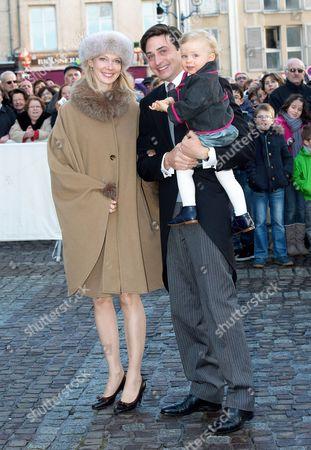 Count Rodolphe of Limburg-Stirum and Countess Marie-Christine of Limburg-Stirum and their son