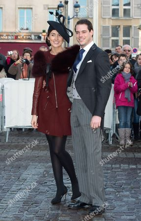 Prince Felix of Luxembourg with his fiancee Claire Lademacher