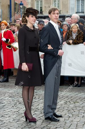 Stock Image of Prince Louis of Luxembourg and Princess Tessy of Luxembourg