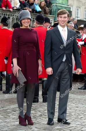 Stock Photo of Princess Alexandra of Luxembourg and Prince Sebastien of Luxembourg