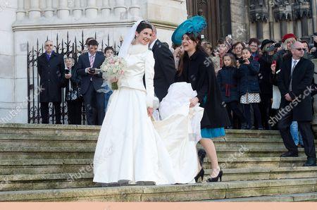 Adelaide Drape-Frisch arrives for her wedding ceremony