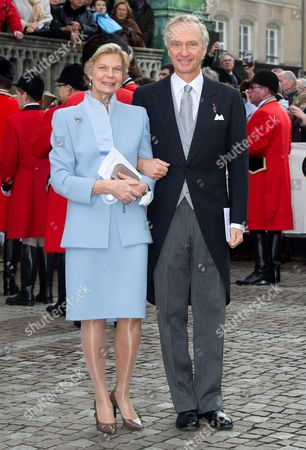 Stock Picture of Archduke Christian of Austria and Archduchess Marie-Astrid of Austria