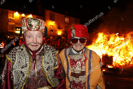 Editorial picture of New Year's Eve celebrations in Allendale, Northumberland, Britain - 31 Dec 2012